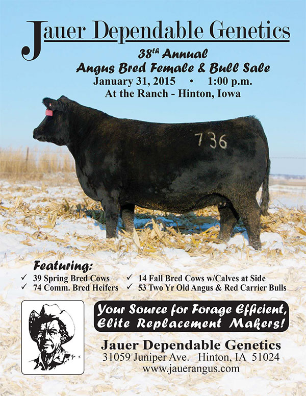 Jauer Dependable Genetics 38th Annual Angus Bred Female and Bull Sale