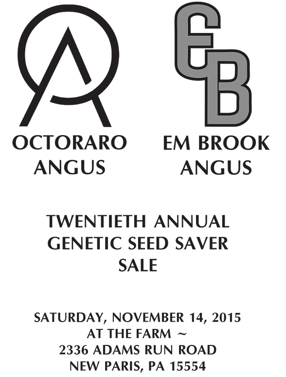 Octoraro Angus & EM Brook Angus Twentieth Annual Genetic Seed Saver Sale