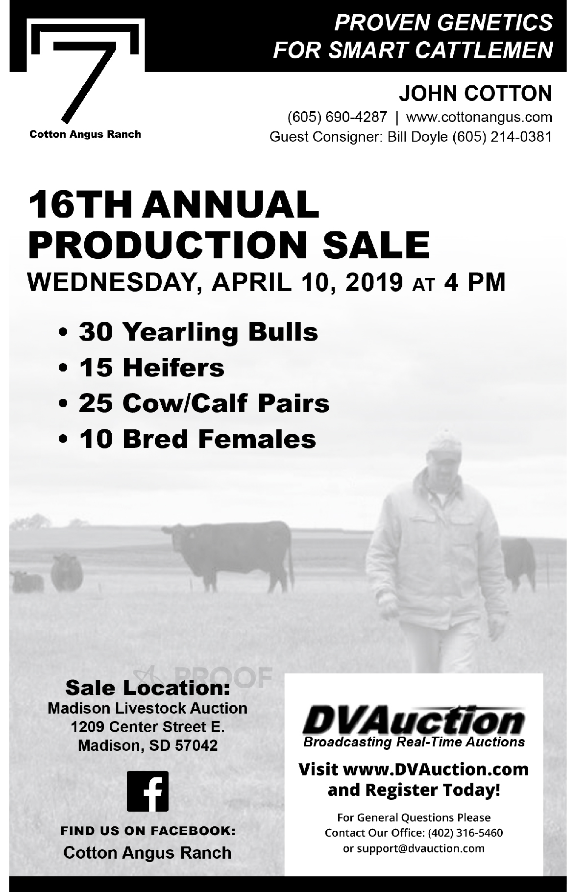 16th Annual Cotton Angus Production Sale