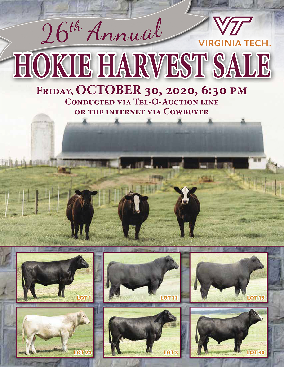 26th Annual Hokie Harvest Sale